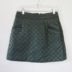 TopShop Faux Leather Cushion Skirt